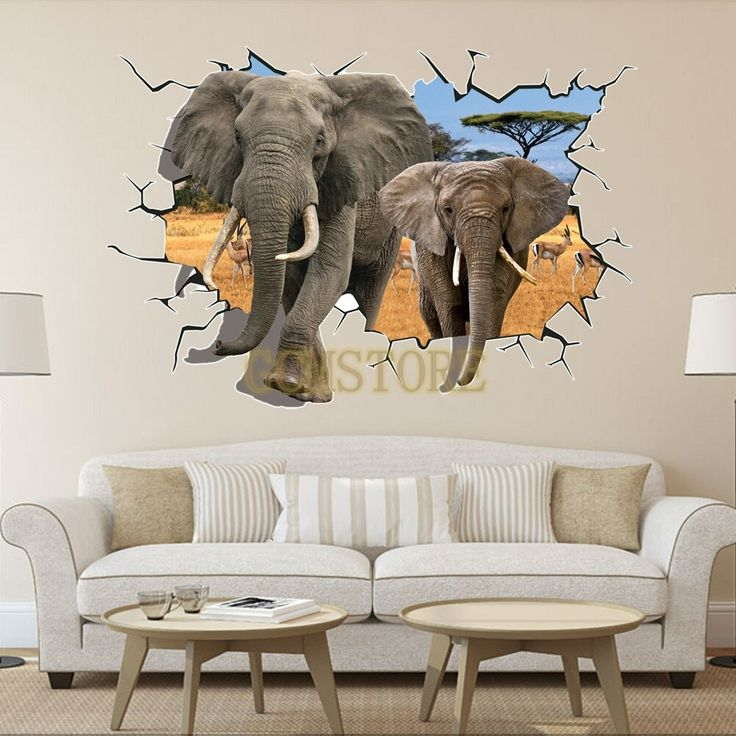 3D Removable Elephant PVC Wall Stickers & Decals For Fahion Living Room #wallstickers #walldecals #adults #teens #boys #girls #babies #kids #nursery #disney #christmas #kitchen #bedrooms #animals #love #fashion #style #stylish #shopping #cool #cute #amazing #fun #funny #beautiful #follow #followme #shoutout #likes #comment