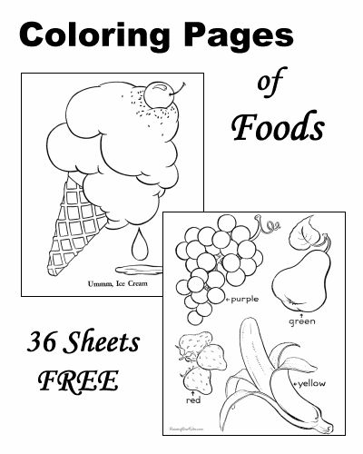 Coloring pages of food!