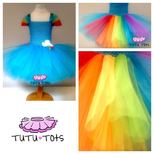 Rainbow Dash MLP Inspired Tutu Dress