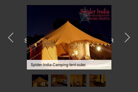 Swiss Cottage tent by SPIDER INDIA-Jodhpur by Sohan Singh Chouhan