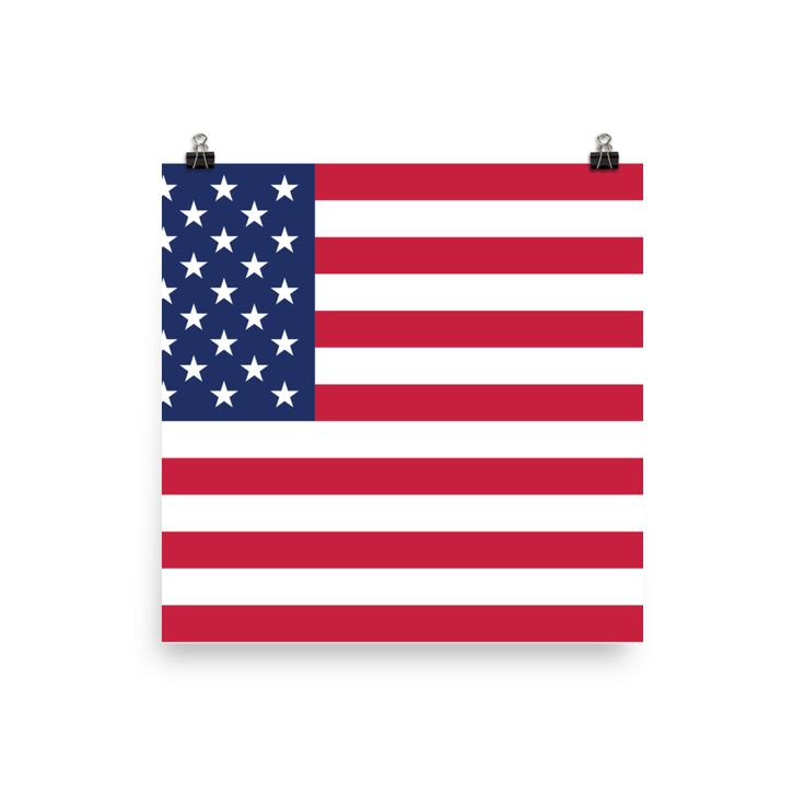 BattleRaddle Red Blue American Flag Photo paper poster