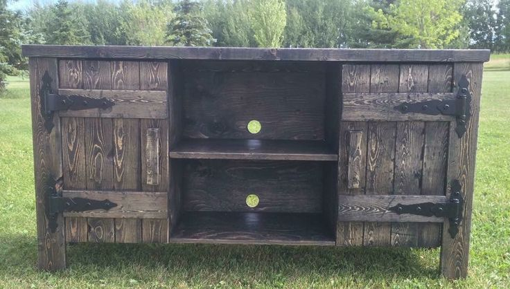 Rustic TV stand https://www.facebook.com/J4WoodworksCanada/