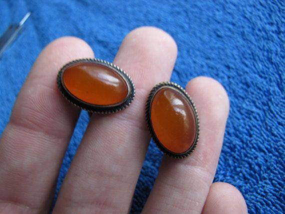 Natural Baltic amber 11.8 gr cufflinks 琥珀 Silver by ambergems93