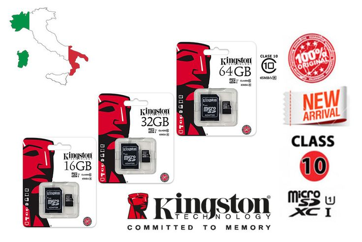 Kingston 8GB 16GB 32GB 64GB Micro SD SDHC SDXC Class10 Memory Card 45MB/s TF…