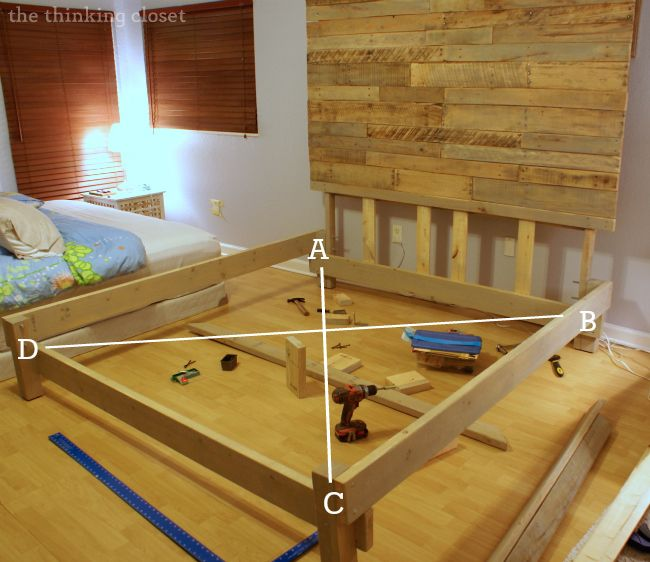 How to build a king size bed frame and headboard for Diy king bed frame ideas