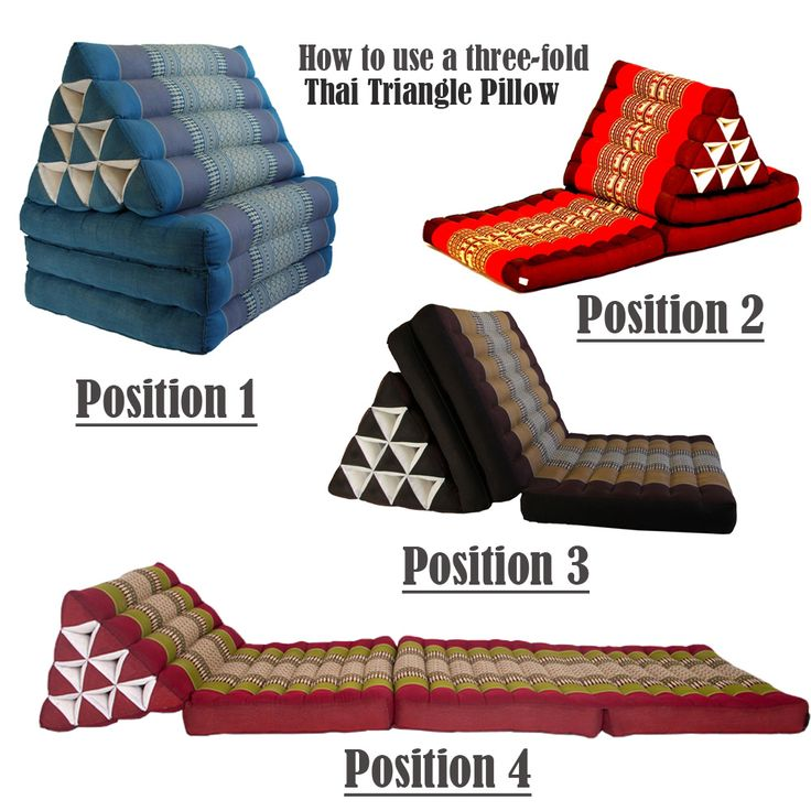 Details About Jumbo Size Thai Triangle Pillow Fold Out