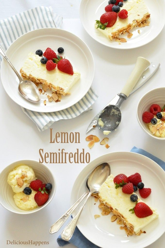 lemon semifreddo