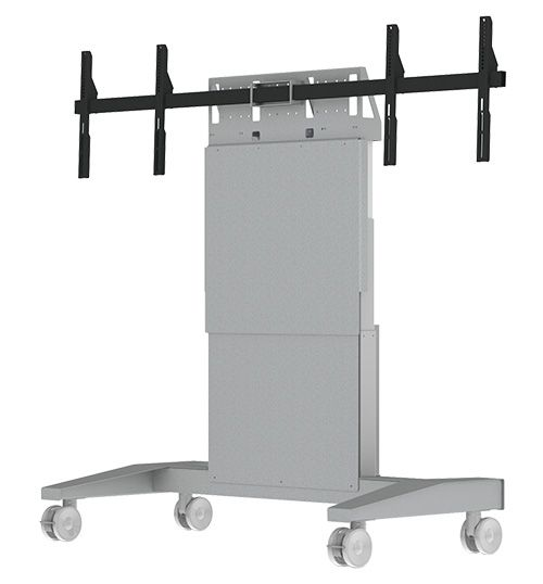 SYZ90-D Mobile Lift Stand For Dual Large Monitors
