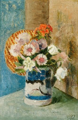 Vanessa Bell, Still Life with a White and Blue Jug  1951