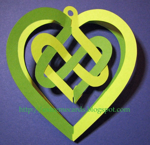 Celtic knot woven 3d valentine.  Cutting files.  Silhouette Cameo.  Template.  SVG.