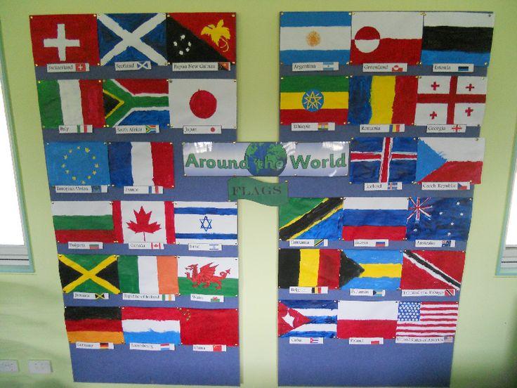 Flags Around the World classroom display photo - Photo gallery - SparkleBox