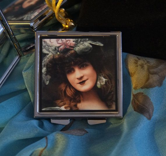 Vintage Styled Lady in Fancy Hat with Velvet Pouch by karenarts