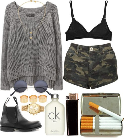 I don't see why someone would think that cigarettes make an outfit but this is cute.