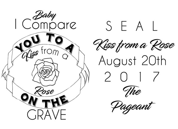 -Brianna  -Typography SP2017 SCC -Project 3 musical type -Create a poster for a band or artist in your birth month with the most popular song in your month.