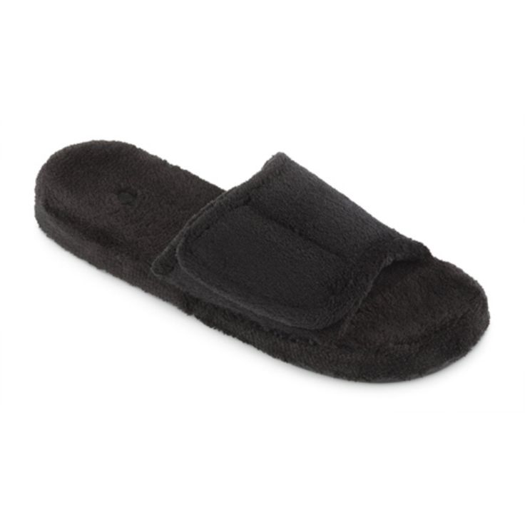 Acorn Mens Spa Slide Slipper - Black - A10602AAAMM
