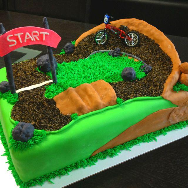 Cake Decorating Dirt Bike Track : Dirt bike track birthday cake Cake ideas for Aunt ...