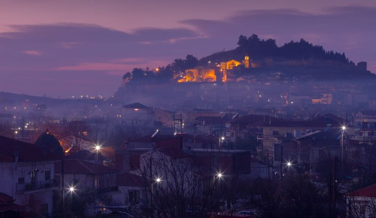 """Foggy Dew - Foggy view of Didymoteicho city, in northern Greece. The name of the town means """"twin walls"""", and probably refers to the two castles that used to stand on the two hills of the town. Nowadays only one of them is left, and can be seen at the background."""