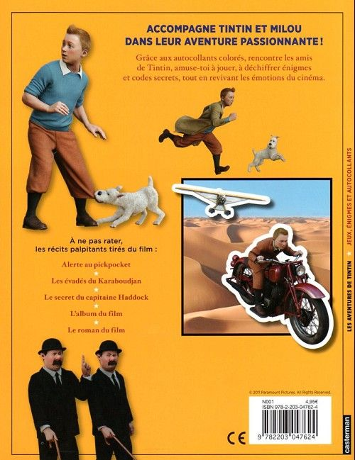 Tintin - Divers -AJ- Tintin - jeux, énigmes et autocollants