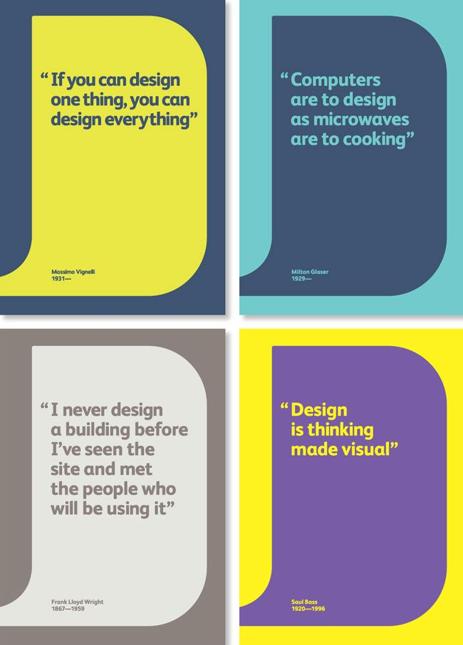 Love These Business Cards With Designer Quotes.