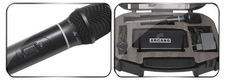 Microfone original Sem Fio Uhf Mic De Mão Completo