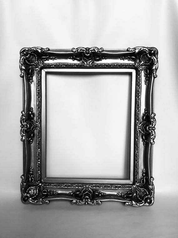 20x24 Silver Steel Frames Baroque Frame For Canvas Painting Etsy Baroque Frames Frames For Canvas Paintings Large Picture Frames