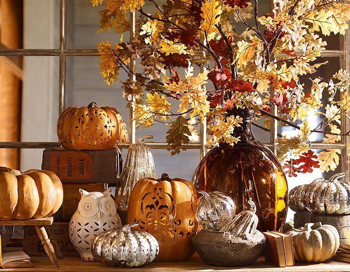 Autumn Decorations & Harvest Decorations   Pottery Barn