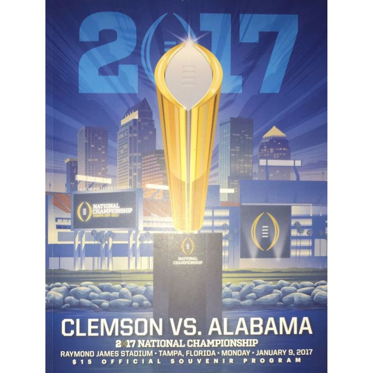 Clemson Tigers Fanatics Authentic College Football Playoff 2016 National Championship Official Program