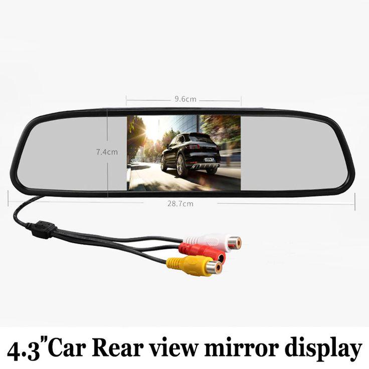 4.3 Дюймов Цветной tft LCD HD Автомобильный Зеркало Заднего вида Дисплей/Для Автомобилей Заднего Вида Резервного Копирования для Камера Заднего вида