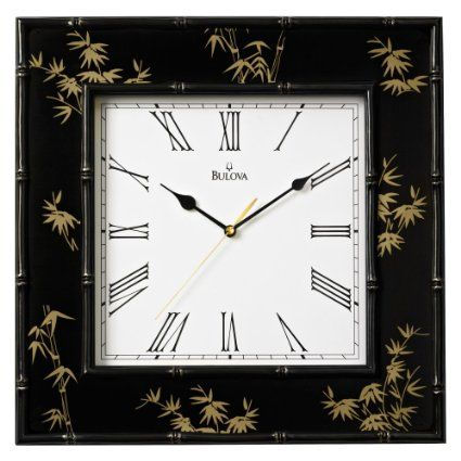 Amazon.com - Bulova Willow II Wall Clock - 16W x 16H in. - Asian Wall Clocks