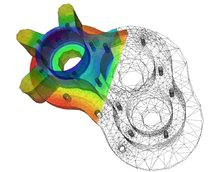 A numerical solution to the heat equation on a pump casing model using the finite element method.