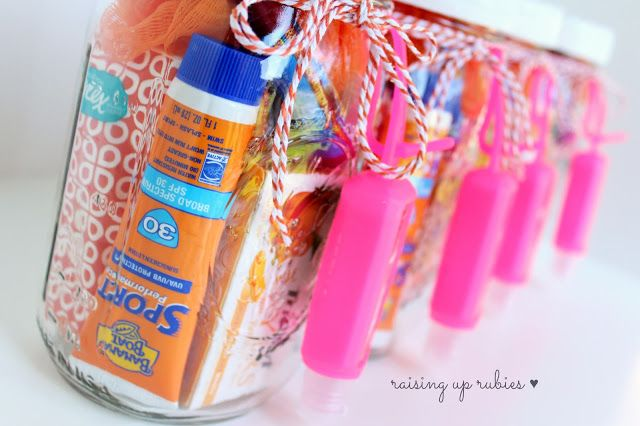 summer in a jar ... great for teacher gifts, secret pal, etc.