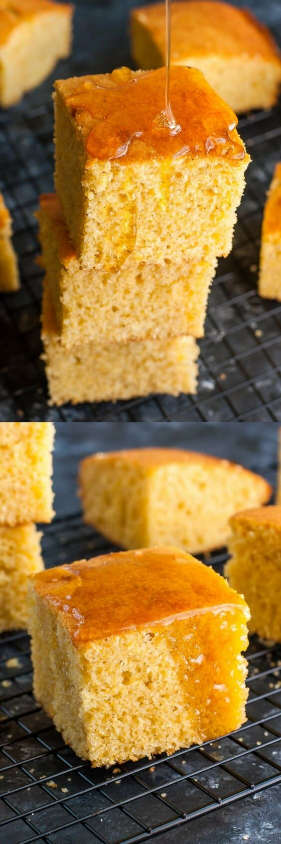 Whip up a pan of this quick and easy homemade cornbread! This my absolute favorite recipe for fluffy and flavorful cornbread, perfect for dunking in a big bowl of chili!