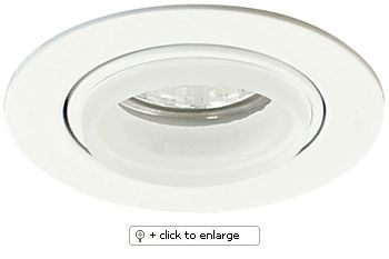 """Mini Diecast Gimbal Ring with Glass Ring MR16 Downlight   Includes 4"""" high miniature thermally protected Housing    ETL Listed for remote transformers  Lamp: 12V 20W-35W MR16 (not included)    Dimension: Cutout: 3 1/8"""", Trim O.D.: 3 3/4"""", Housing height: 4""""  Regular price: $32.99  Sale price: $18.50"""