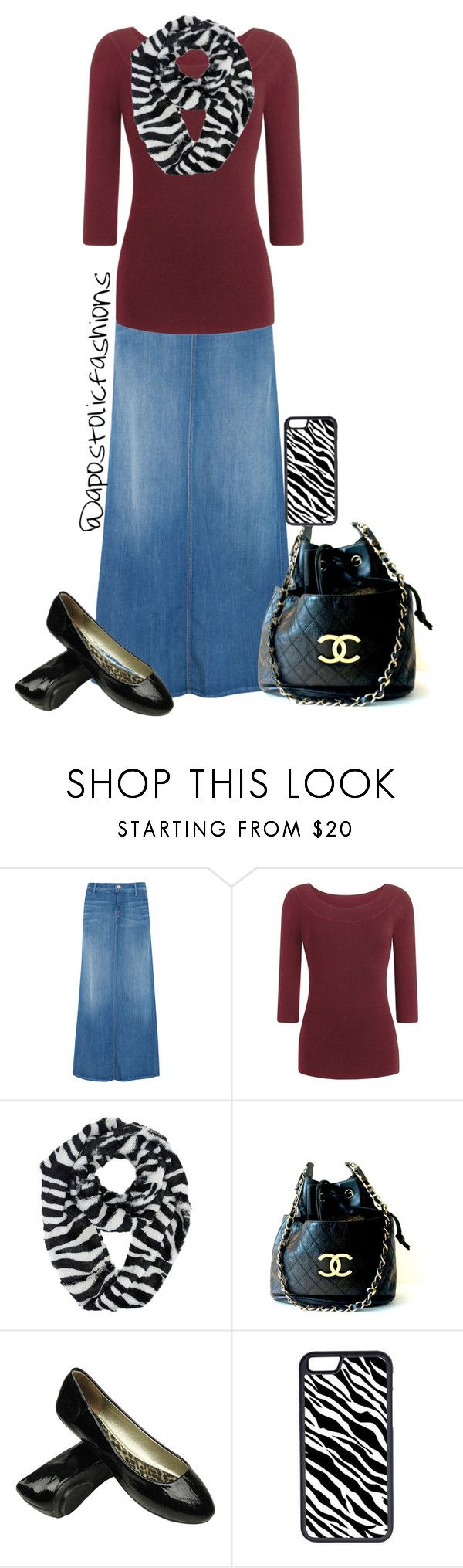 """Apostolic Fashions #881"" by apostolicfashions on Polyvore featuring Mother, Chanel and CellPowerCases"