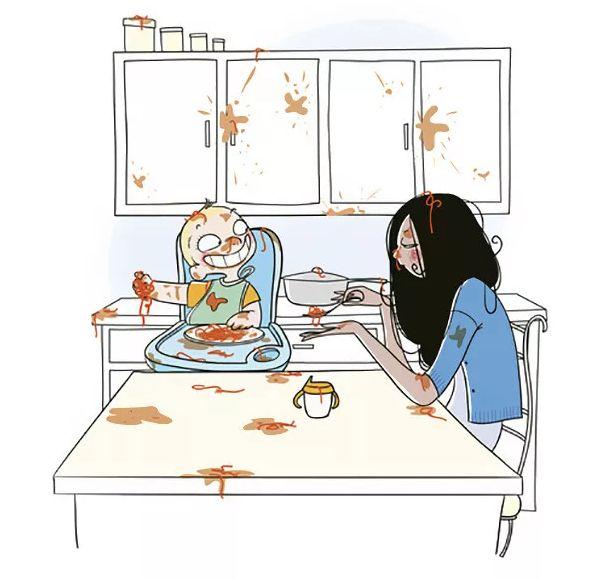 Смешная картинка мама и ребенок