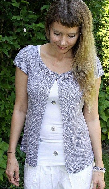 727 best Knitted short sleeve cardigans images on Pinterest ...
