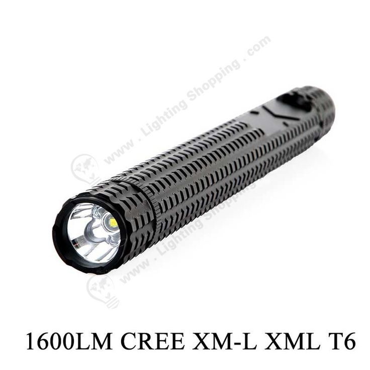 #LED #Flashlight, 1600Lm, Super Bright, Long Self-defense Stick, - See more at: http://www.lightingshopping.com/super-bright-1600lm-cree-xm-l-xml-t6-5-mode-aluminum-alloy-led-flashlight-long-led-torch-self-defense-stick.html