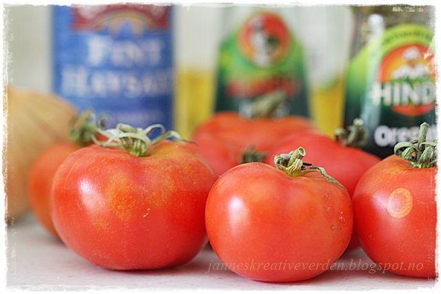 Jannes kreative verden: Tomatsaus og forberedelser til planterommet....:))...