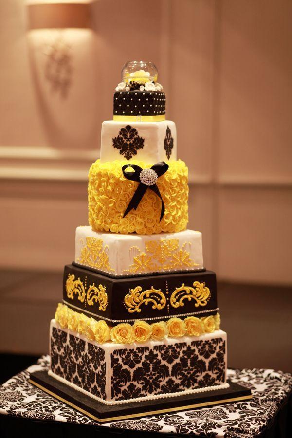 Damask Edible Letter Cake Topper