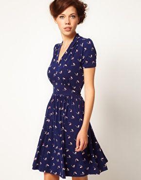 A Wear Tie Back Tea Dress