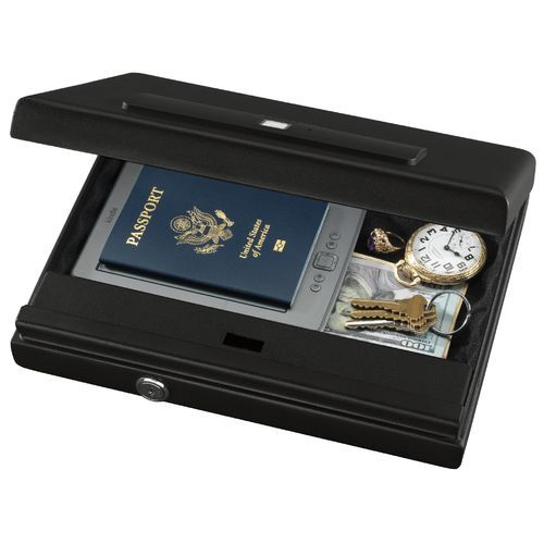 Stack-On Large Biometric Lock Security Case Black - Safes Cabinets And Accessories at Academy Sports