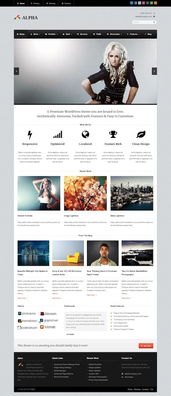 Another amazing responsive WordPress theme by WPExplorer. Love the look of this one!