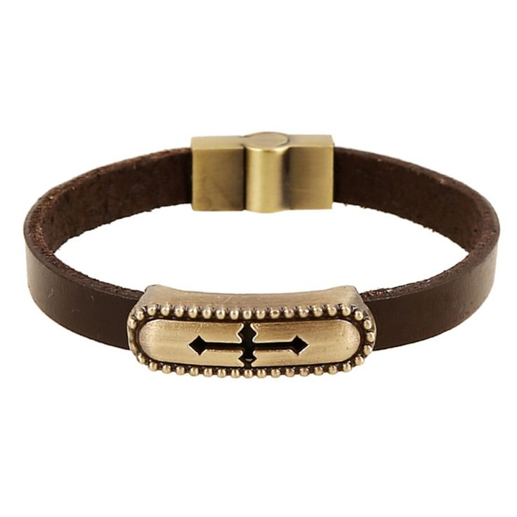 Vintage Retro Pulseira Homens Masculina Couro Male Cool Leather Long Cross Bracelet Biker Mens Steampunk Leather Jewellery //Price: $US $2.32 & Up To 18% Cashback //     #steampunktendencies