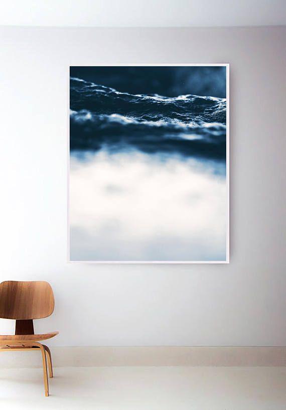 Water Print Ocean Print Waves Sea Art Ocean Wall Art Tropical