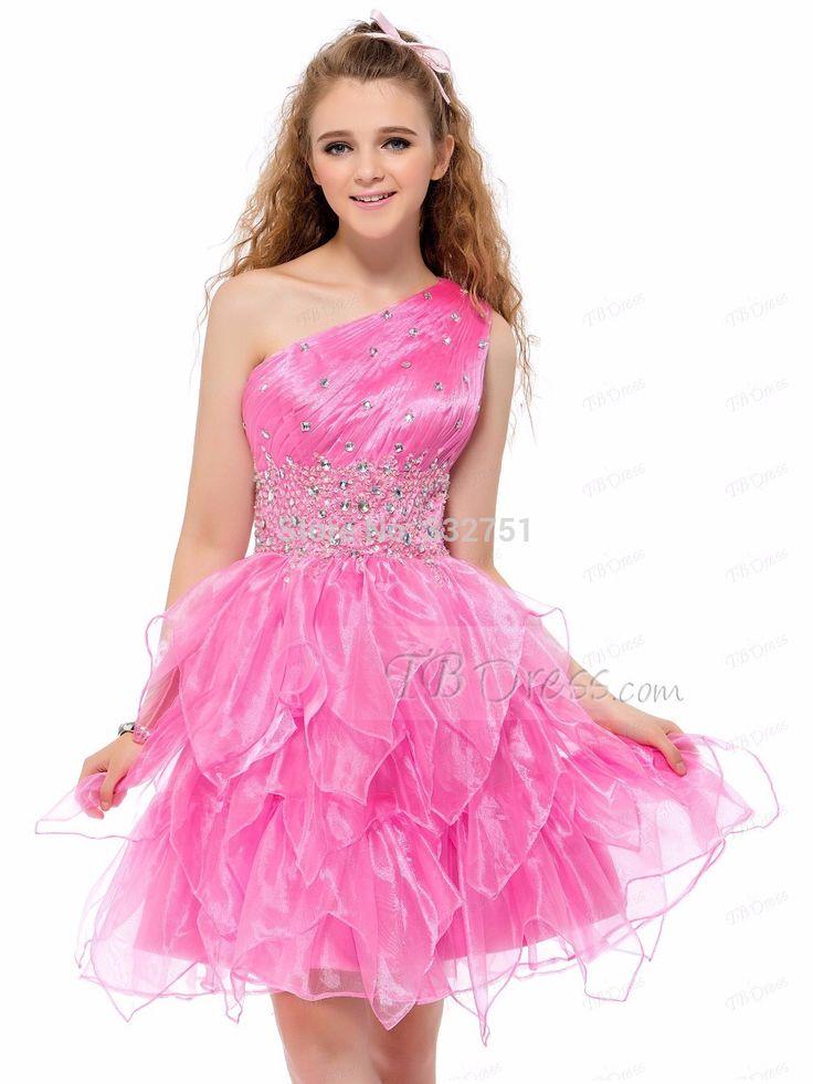 Купить товарНа заказ! 2015 красивая одно плечо оборками бисероплетение line длиной до колен из органзы спинки платье возвращения домой в категории Бальные платьяна AliExpress.                           Платье размер диаграммы         Плюс размер платья размер диаграммы  &