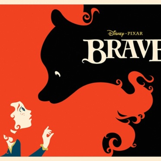 BRAVE: Movie Posters, Great Movie, Negative Spaces, Disney Brave, Art, Graphics Design, Disney Pixar, Brave Posters, Brave Movie