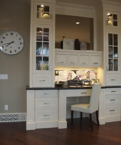 kitchen cabinets desk workspace 22 built in home office designs maximizing small spaces 6015