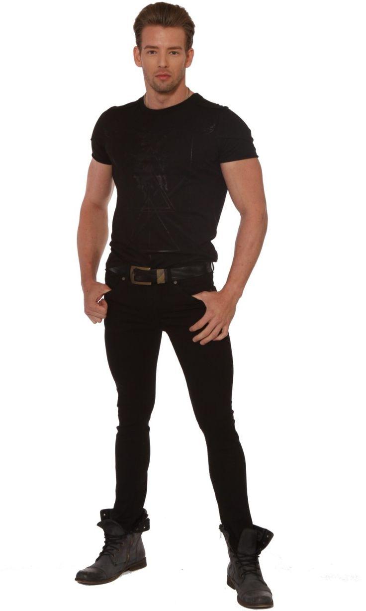 Mens Junkie Skinny Jeans Men