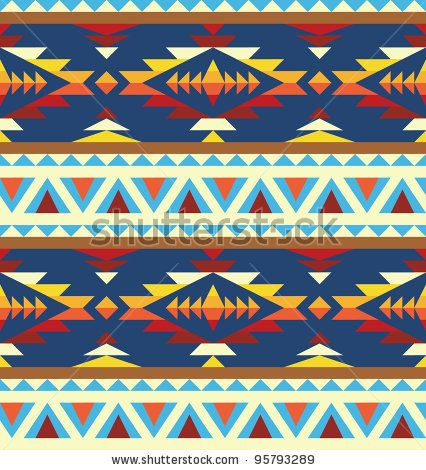 stock vector : Seamless geometric pattern in native american style