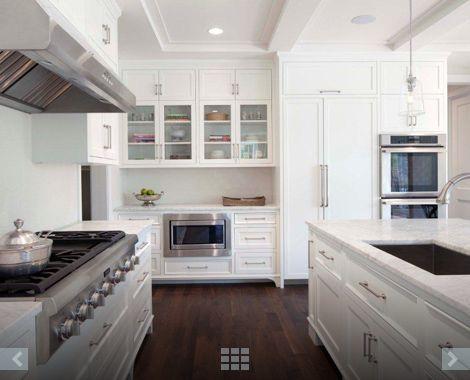 Clean, spacious white kitchen   Elevation Homes